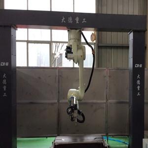 金彭倒挂式三轮车面板机器人切割